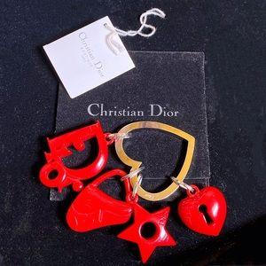 EUC DIOR CHRISTIAN RedHeartIcon Luxury Bag Charm